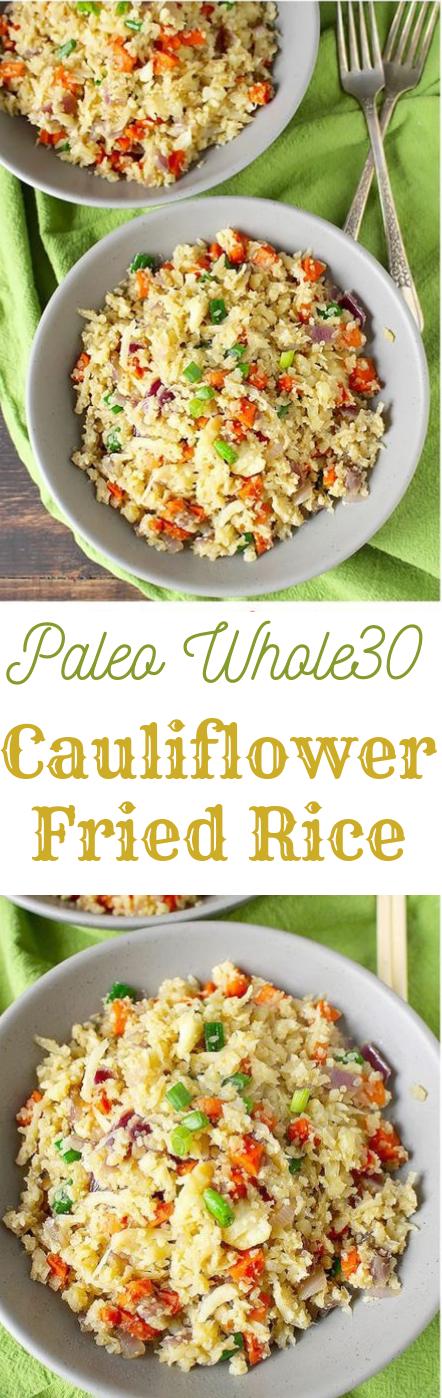 PALEO CAULIFLOWER FRIED RICE #paleo #healthy