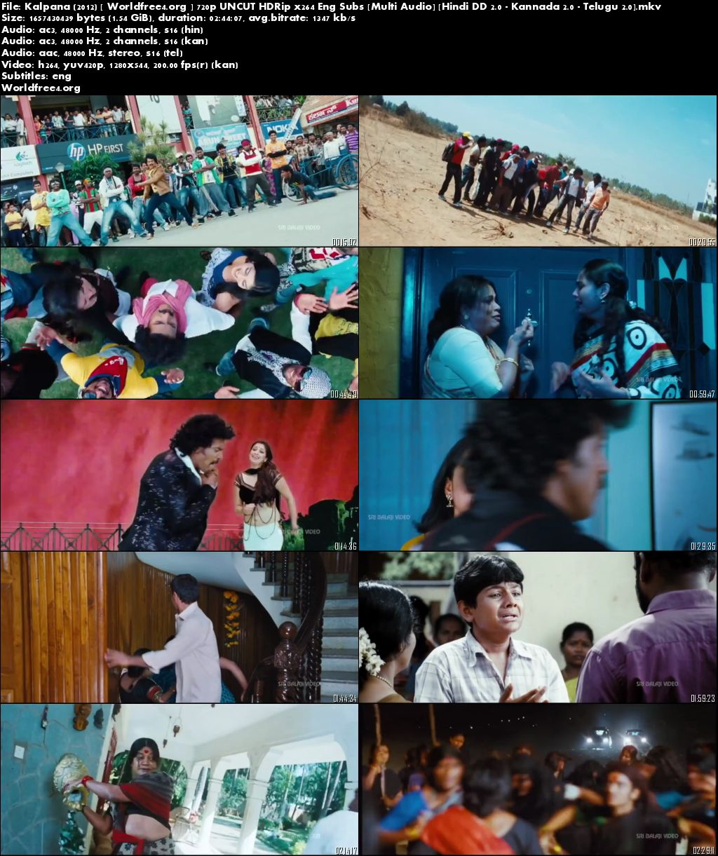 Kalpana 2012 HDRip 720p Multi Audio Hindi UNCUT 1.5Gb Download