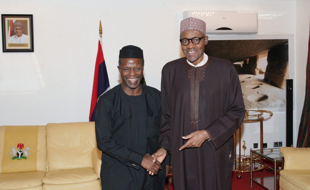 Osinbajo and Buhari-handover