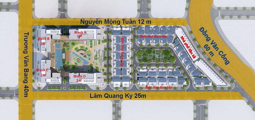 Quy hoạch Victoria Village Đồng Văn Cống Quận 2