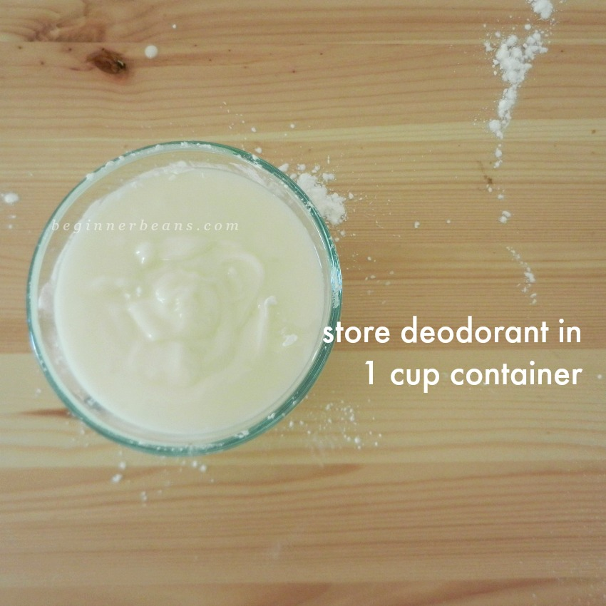 How to Store Homemade Deodorant