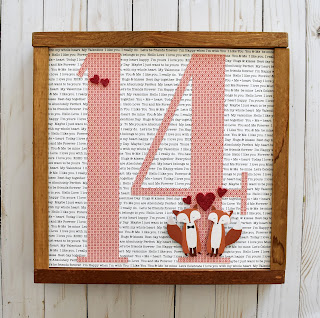 quick and easy valentine's day frame by wendy sue anderson for Pebbles Inc.