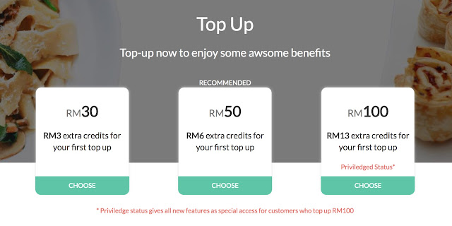 Top up today, get more credits and benefits