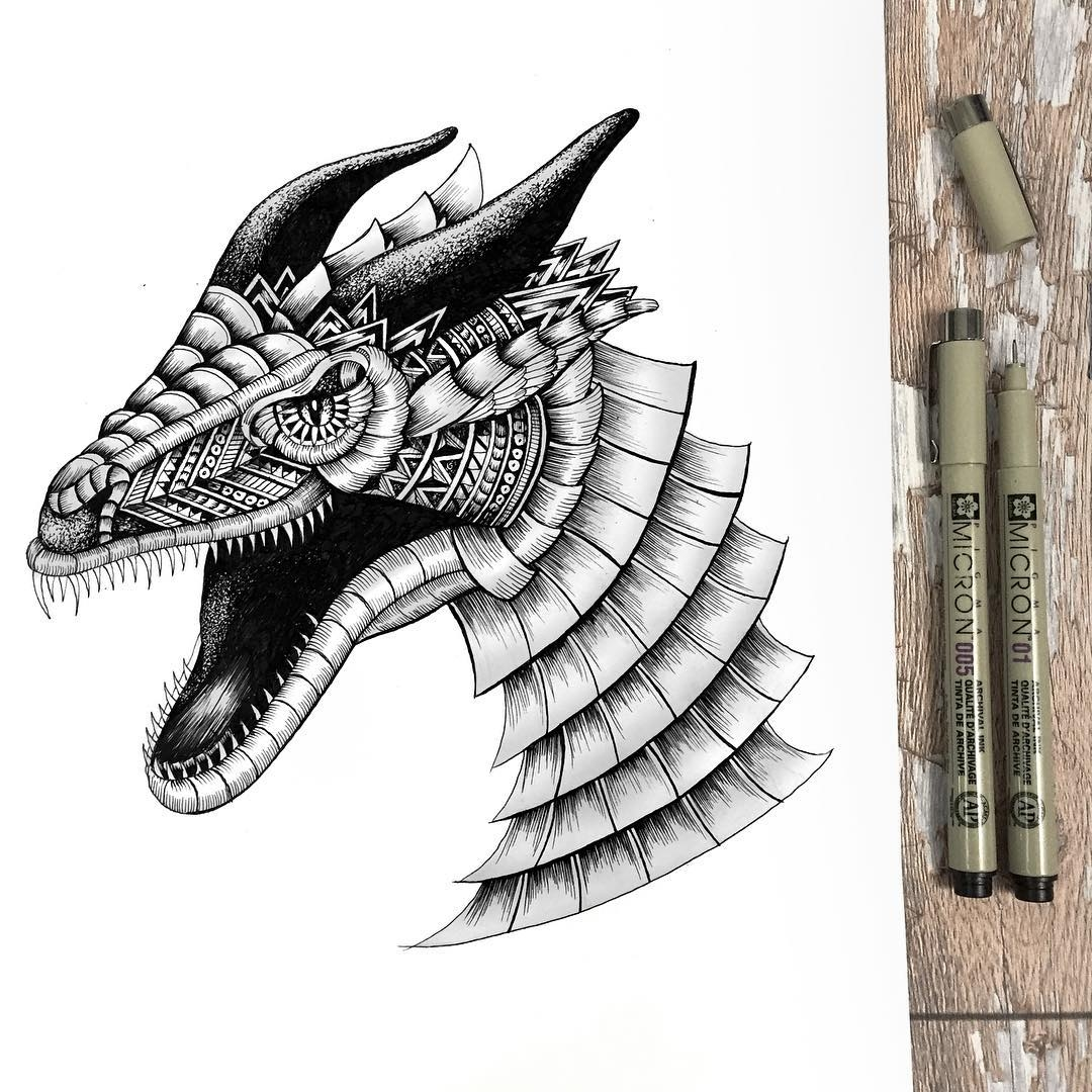 07-Dragon-Faye-Halliday-Animal-Drawings-and-Mandalas-www-designstack-co