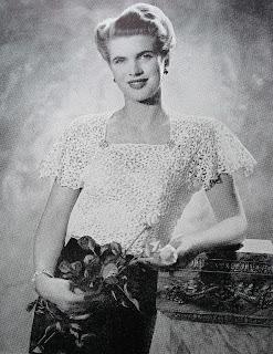vintage 1940s crochet top by Karen Vallerius