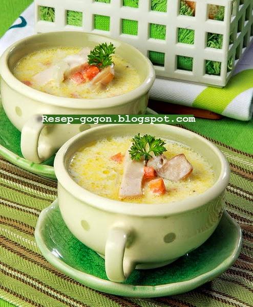 Resep Sup Krim Ayam Asap