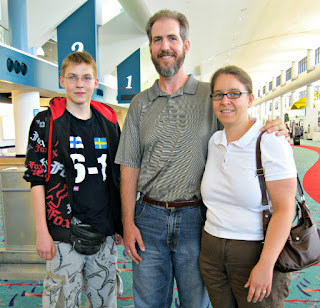 Foreign Exchange student with Celiac Disease at airport