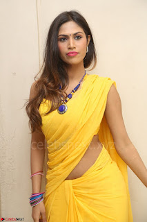 Nishigandha in Yellow backless Strapless Choli and Half Saree Spicy Pics 108.JPG