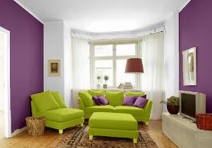 decoración sala colores llamativos