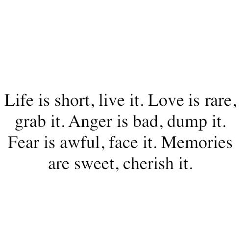 Short Simple Life Quotes Tumblr: Leben Und Leben Lassen