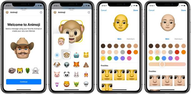 iOS 12 Animoji, Memoji