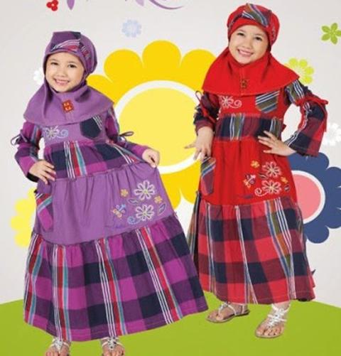 foto baju muslim anak perempuan dannis