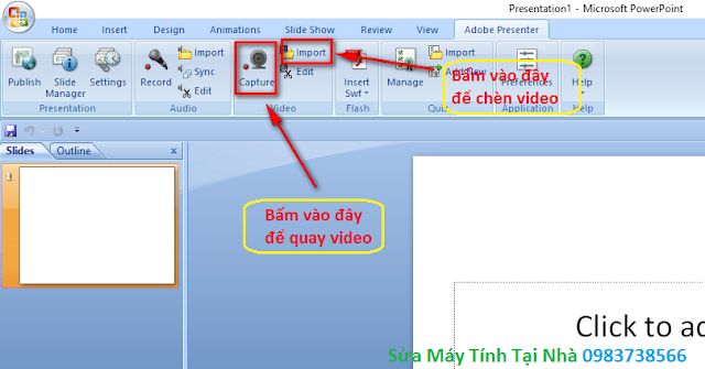 Quay video trong Presenter - H05