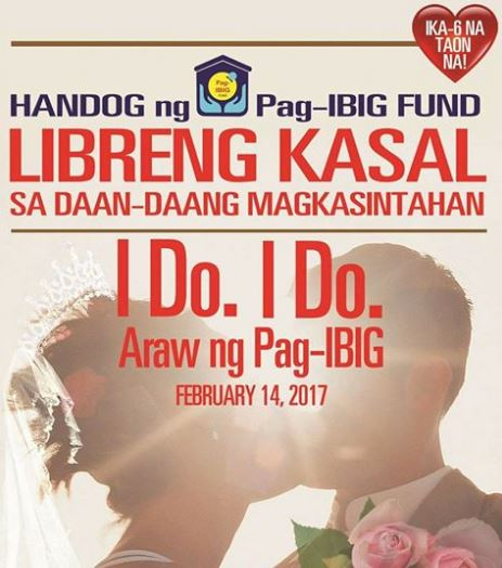 Pag-IBIG to sponsor Valentine's Day mass wedding for 100 lucky couples
