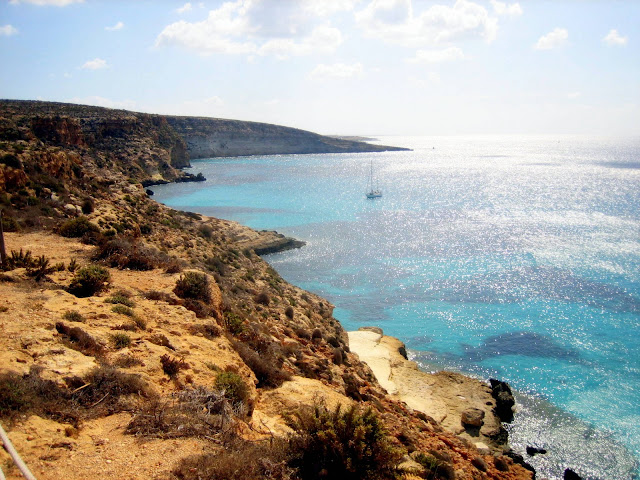 Lampedusa coastline  |  Pazienza, or the lack thereof on afeathery*nest  |  http://afeatherynest.com