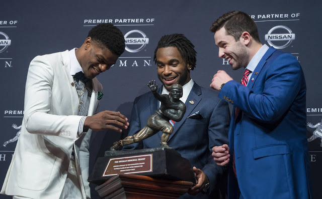 Photos: Oklahoma QB Baker Mayfield wins Heisman Trophy