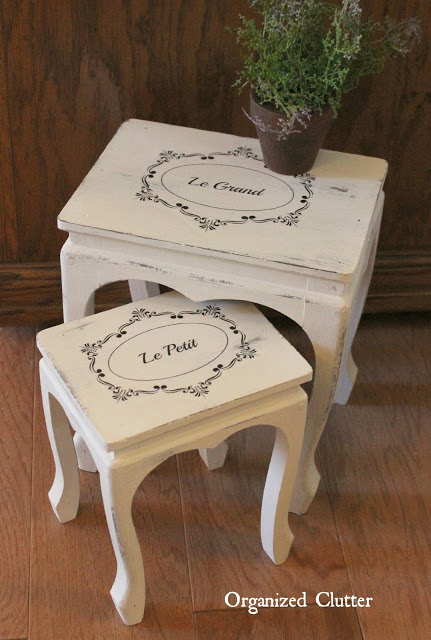 French Style Upcycle of a Thrift Shop Find #imagetransfer #chalkpaint