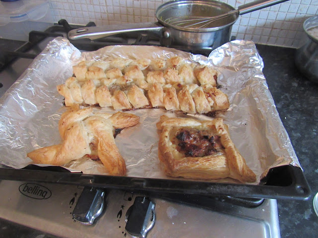 Sausage rolls and plait