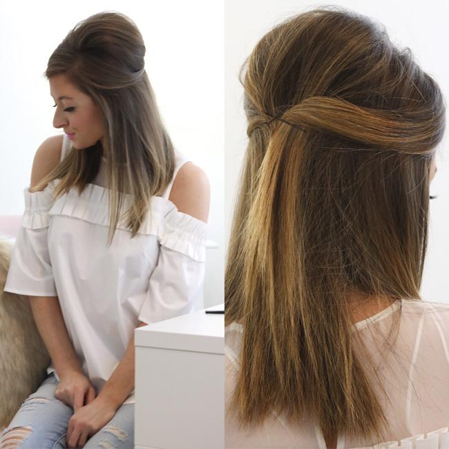 half up hair tutorial