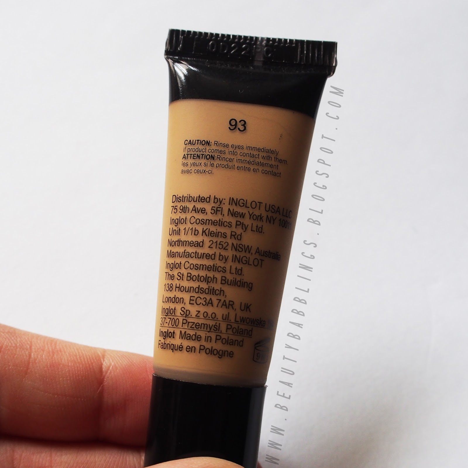 Inglot Undereye Concealer in 93 Review