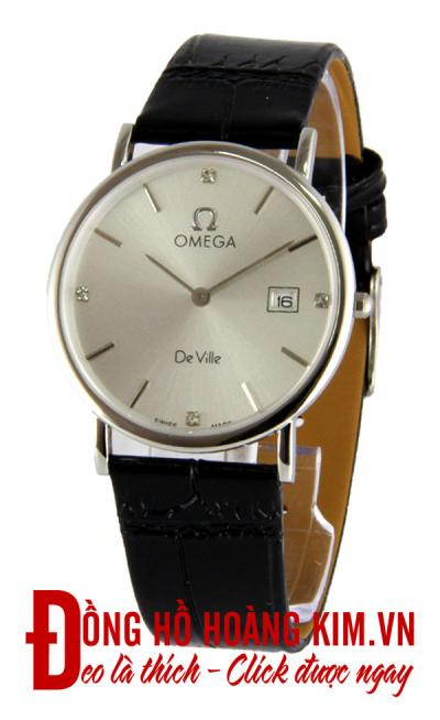 đồng hồ nam dây da omega giảm giá hàng hiệu