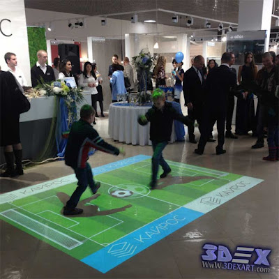 interactive floor projector for games and festival and events, live system floor