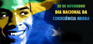 20 de novembro Dia da Consciência negra e Morte do Líder do Quilombo Zumbi do Palmares. 2019 - 2020.