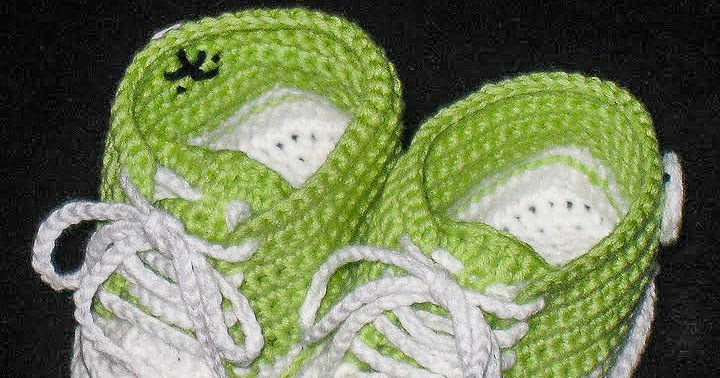 Crochet Baby Converse Shoes Pattern