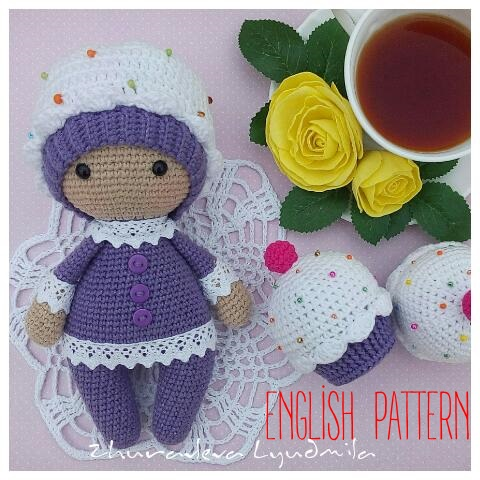 Crochet Patterns English : Amigurumi Cupcake Baby-Free Pattern (English Version) - Amigurumi Free ...