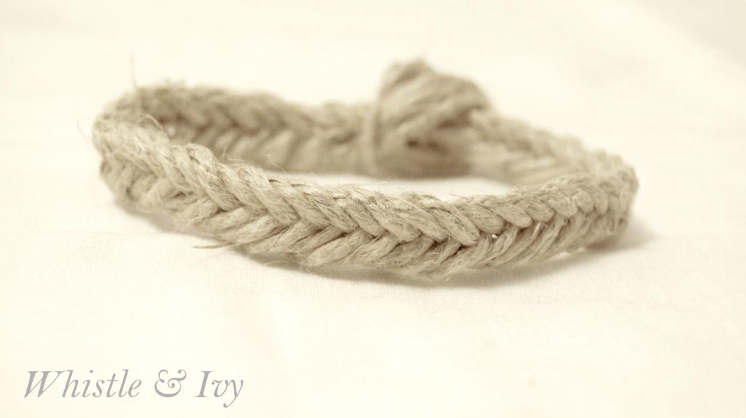Fishtail Hemp Bracelet - Whistle and Ivy