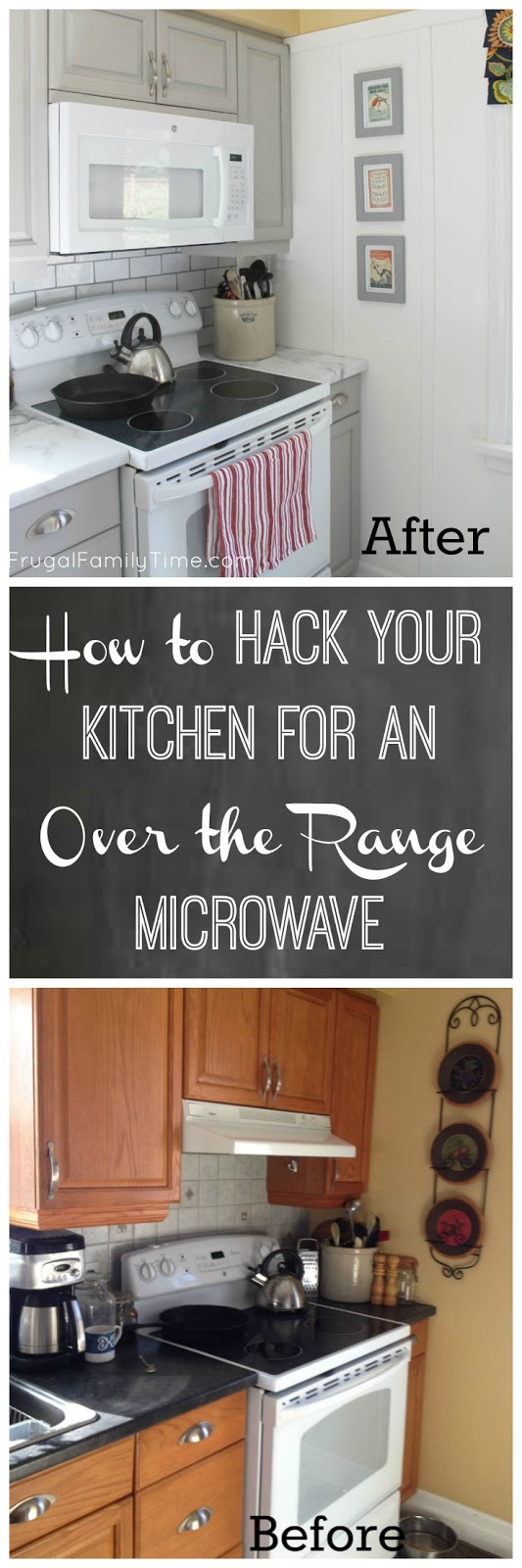 How to Cut a Cabinet for Over the Range Microwave