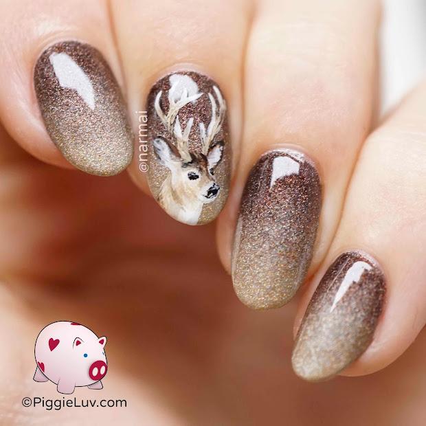 piggieluv deer nail art