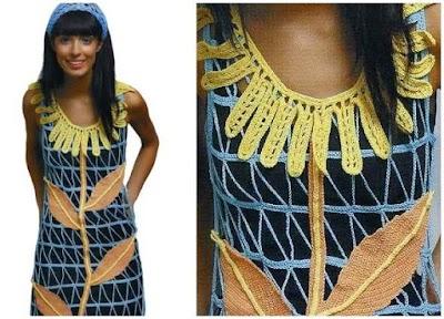 Vestido margarita gigante crochet