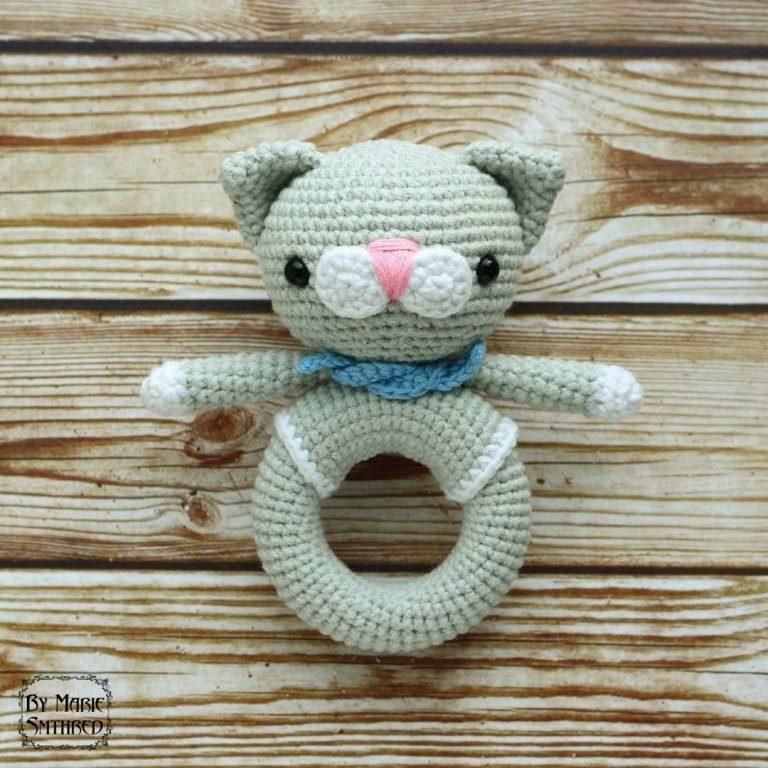 погремушка котенок схема игрушки крючком схемы амигуруми
