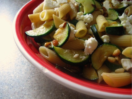 Courgette, Feta and Pine Nut Penne