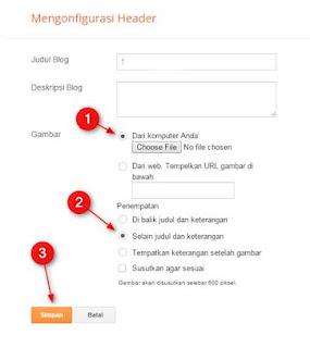 setting header blogger