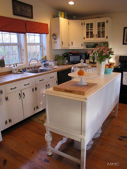 Painted Beadboard Kitchen