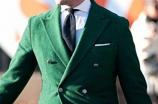 pretty emerald green jacket