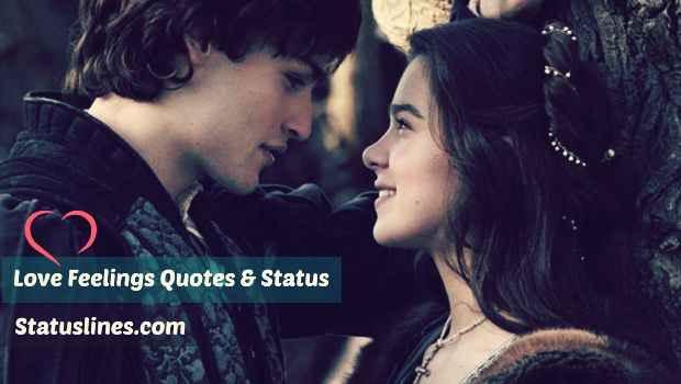 love feeling quotes love feeling status