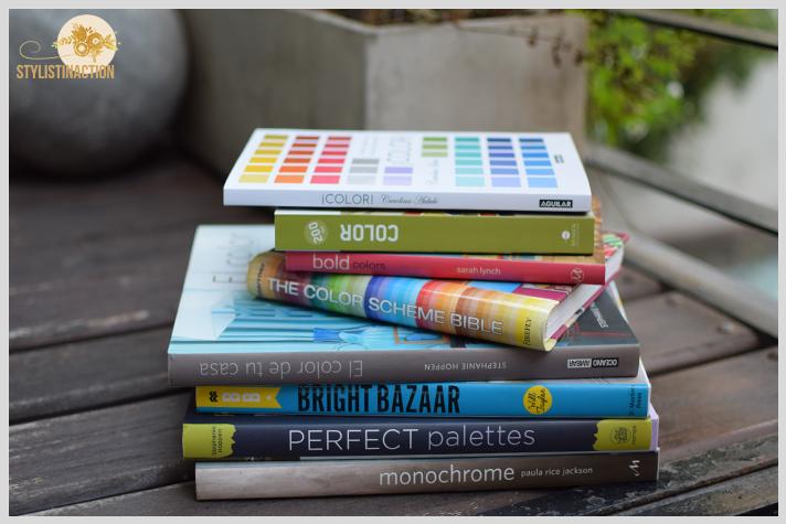 mis 8 libros sobre decoracion en color