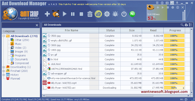 Ant Download Manager PRO wantnewsoft.blogspot.com