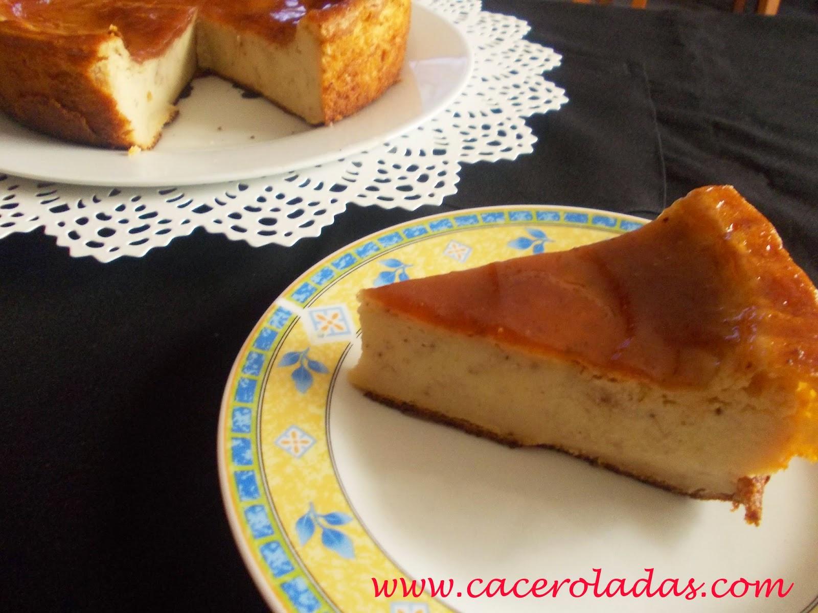 Tarta de queso con estracciatella