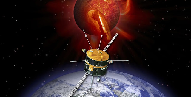 An artist's conception of the WIND spacecraft. Credit: NASA