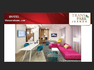 Hadirnya hotel kelas satu hendak penuhi fasilitas yang dimiliki oleh Transpark Juanda.Seluruhnya terintegrasi dalam satu superblok
