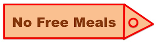 "Label/ Tag showing, ""No Free meals"""
