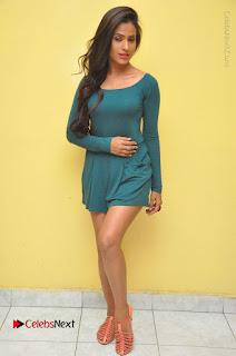 Telugu Actress Prasanthi Stills in Green Short Dress at Swachh Hyderabad Cricket Press Meet  0132.JPG
