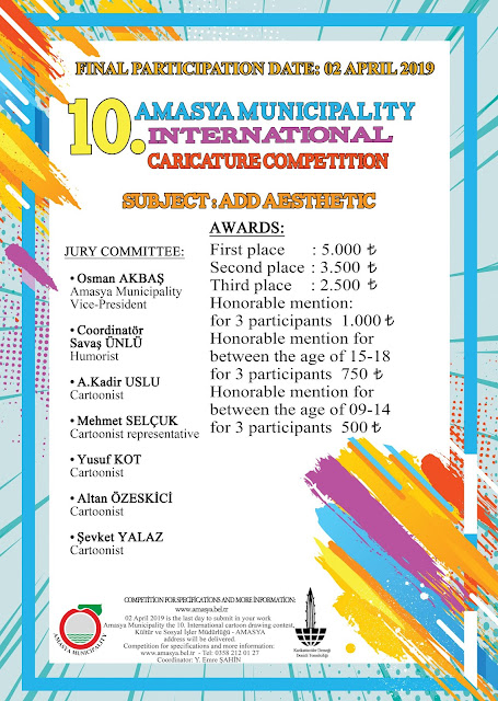 10 Amasya Municipality International Caricature Competition