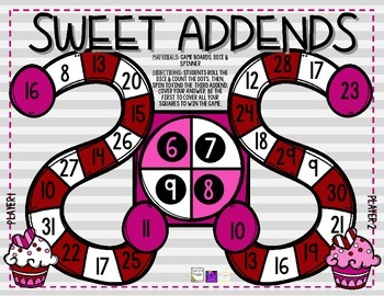 Valentine Math Game Board FREEBIE