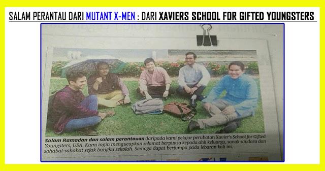 VIRAL Salam Perantau Berita Harian Kena Troll Pelajar Perubatan Xaviers School for Gifted Youngsters USA !