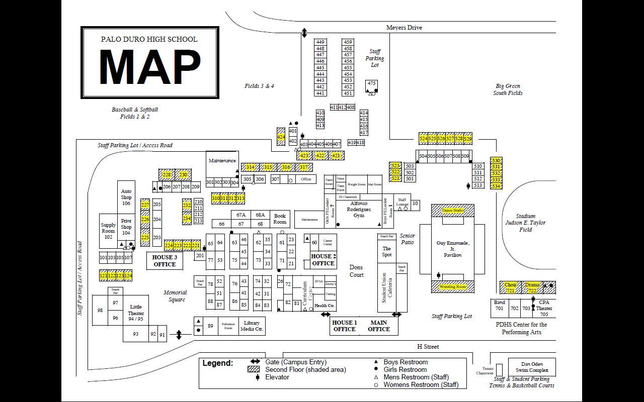 Palo Duro High School: Building Schematic & Emergency Plans